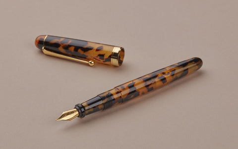 Ohnishi Seisakusho Tortoise Shell Celluloid Fountain Pen