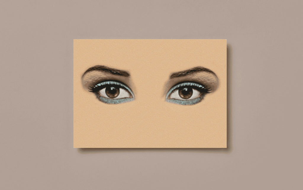 Winking Eyes Postcard