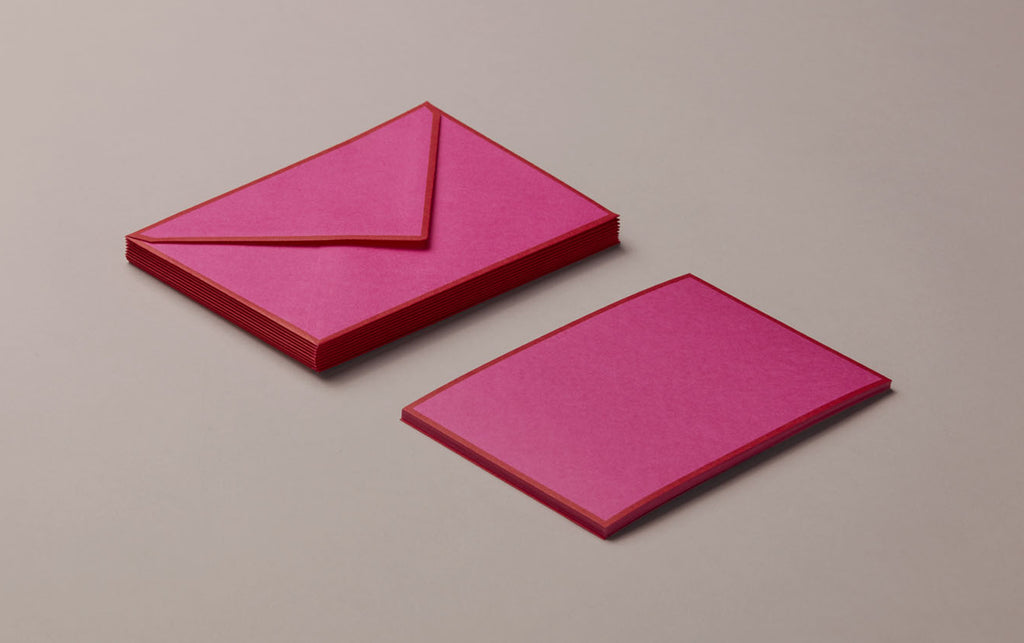 10 Cards & Envelopes - Letter Writing Set Fuchsia/Red