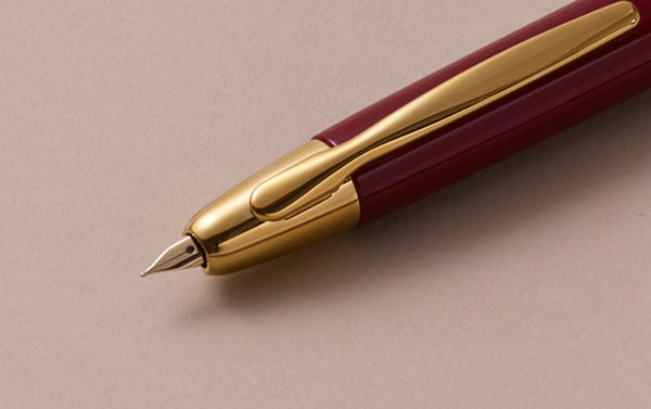 "1964 Capless ""Vanishing Point"" Fountain Pen, Gold Burgundy"