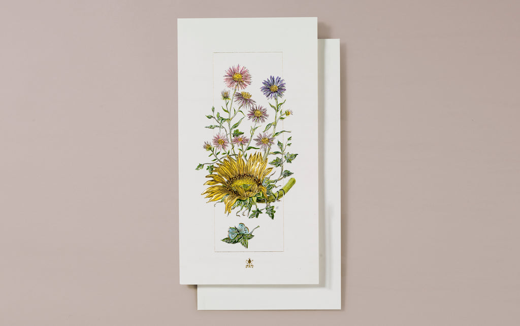 Embossed Wild Sunflower Greeting Card