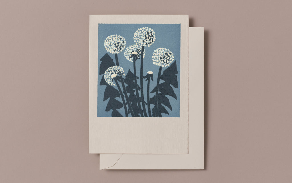 Letterpress Dandelion Greeting Card