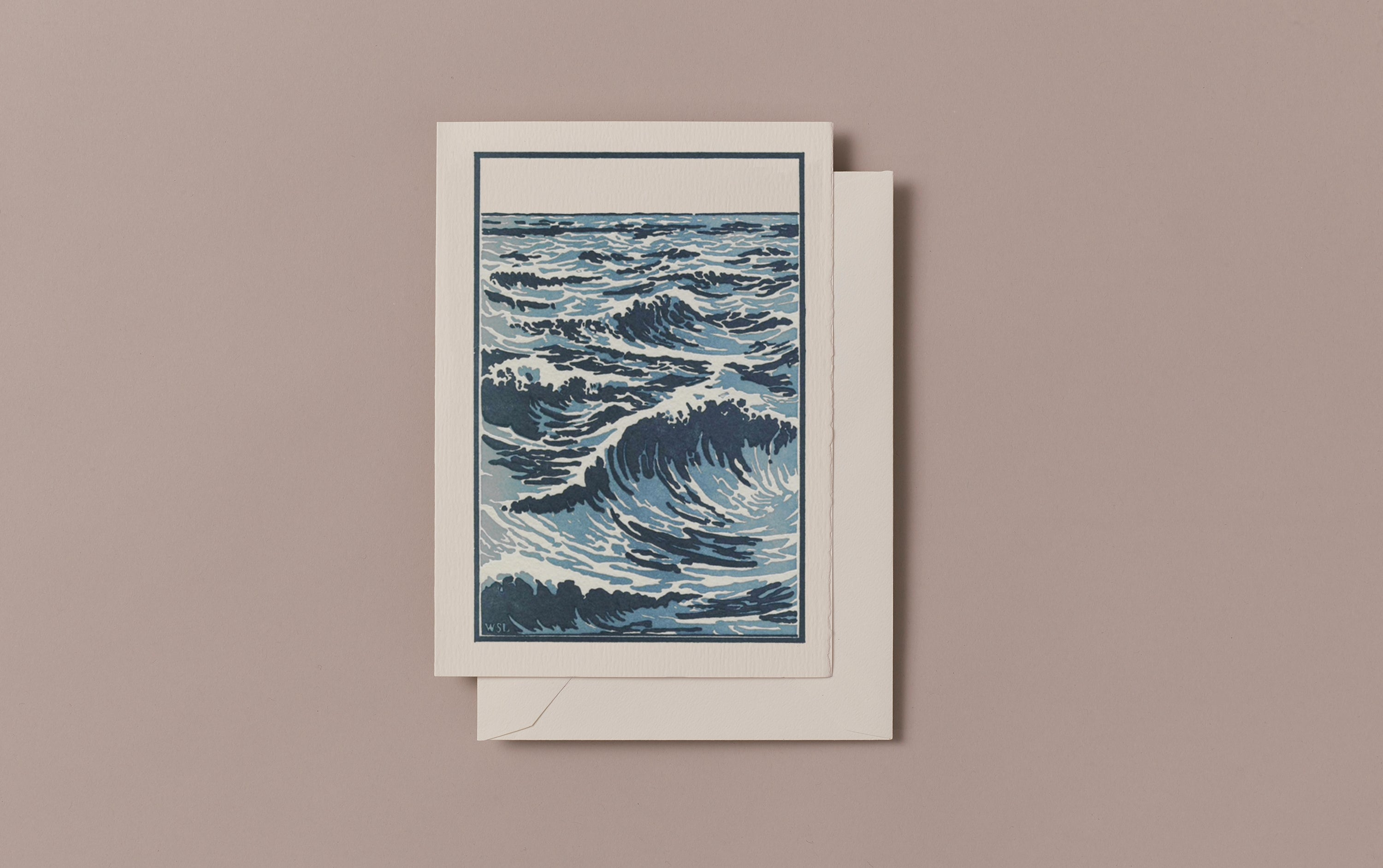 Letterpress Ocean Greeting Card