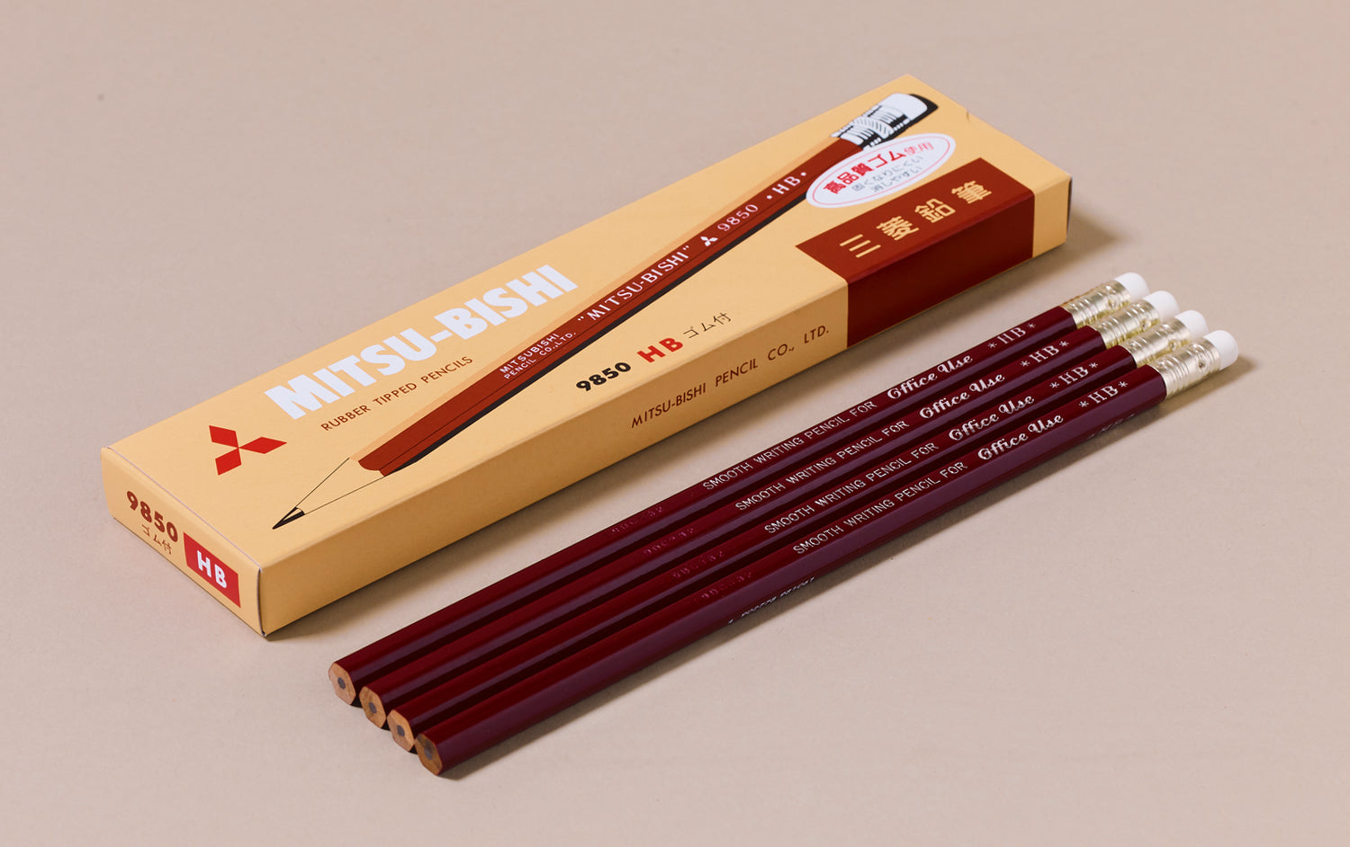 HB Mitsubishi 9850 Tipped Pencils