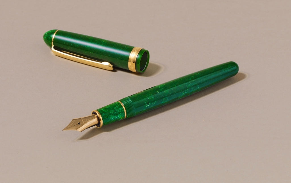 Emerald Jade Celluloid Platinum 3776 Fountain Pen