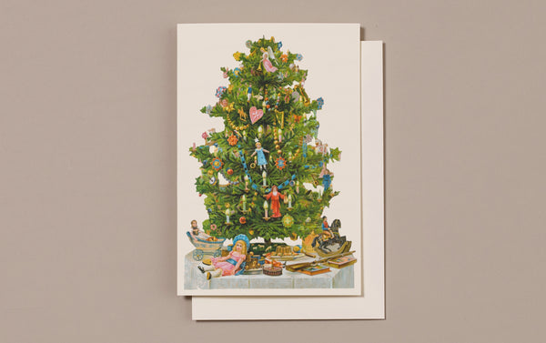 Embossed Die Cut Christmas Card, Motif L