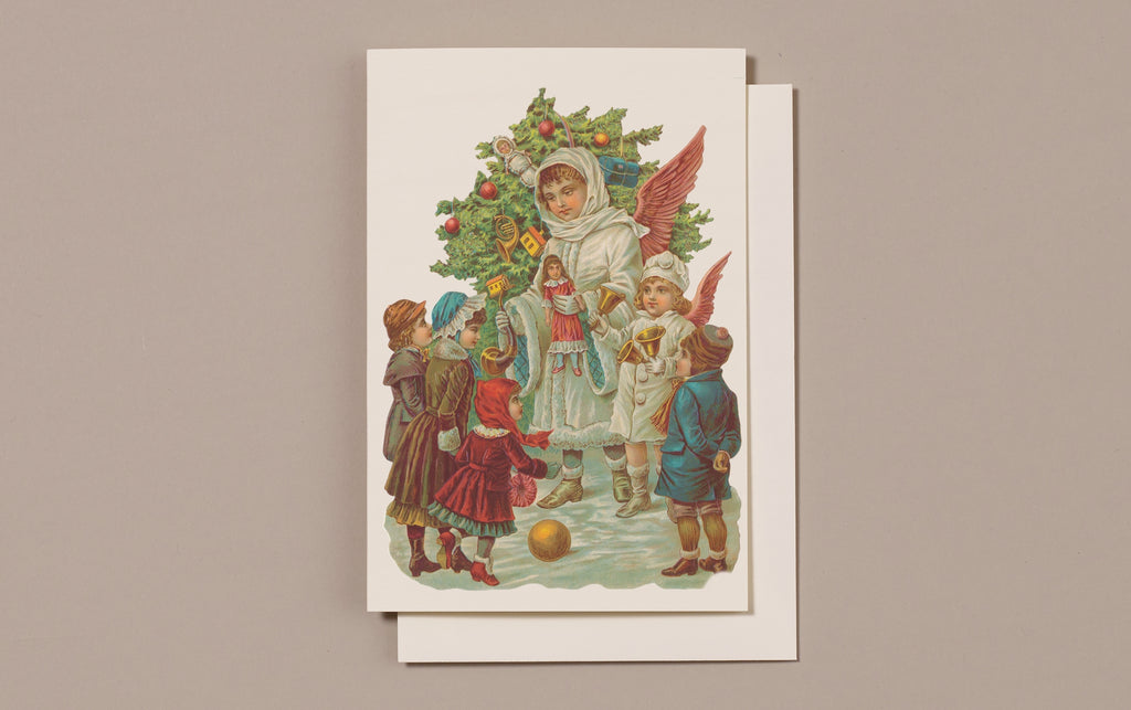 Embossed Die Cut Christmas Card, Motif F