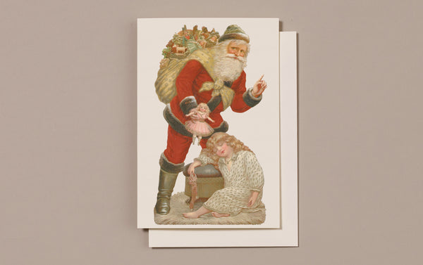 Embossed Die Cut Christmas Card, Motif I