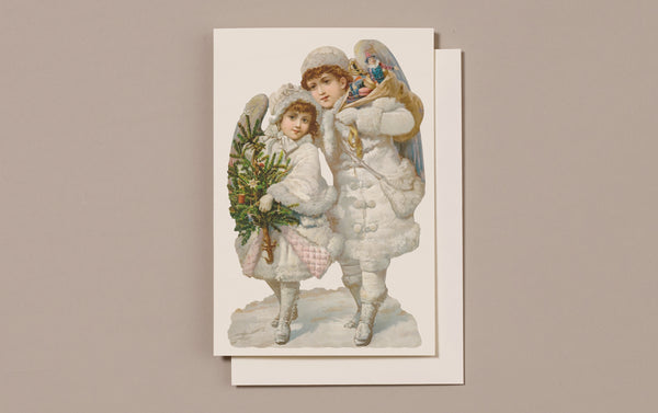 Embossed Die Cut Christmas Card, Motif H