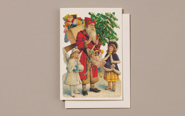 Embossed Die Cut Christmas Card, Motif J