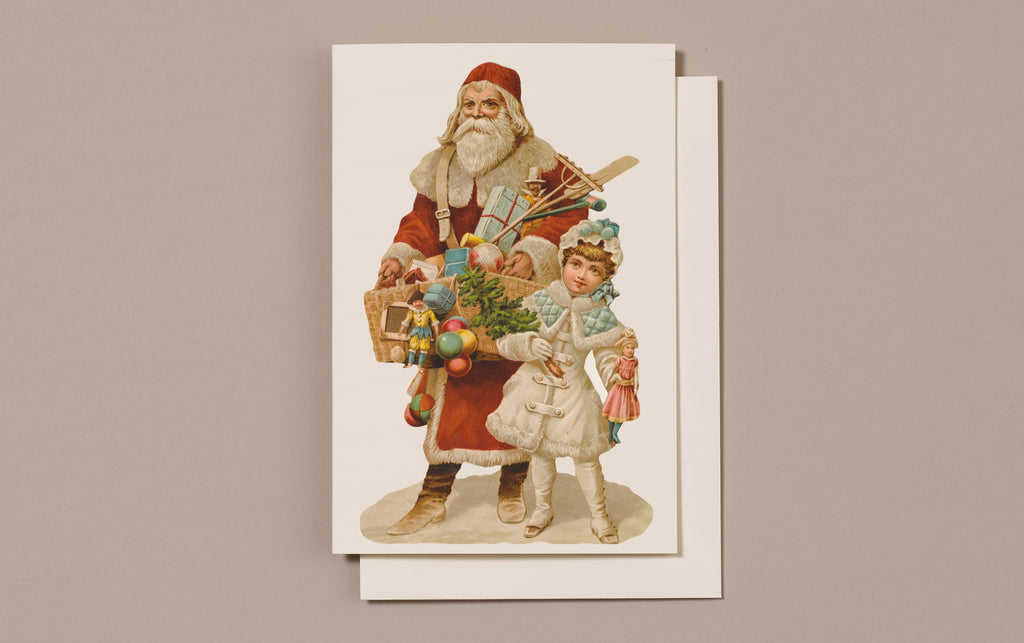 Embossed Die Cut Christmas Card, Motif K