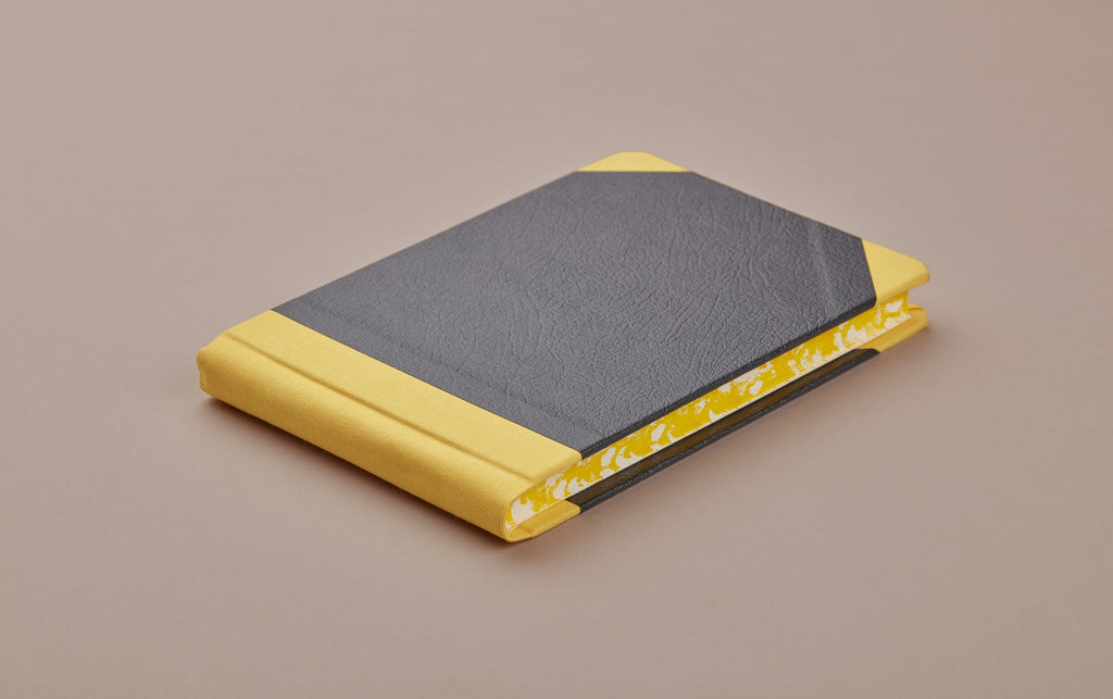 Yellow Sewn Bound Hardback Pocket Sketchbook