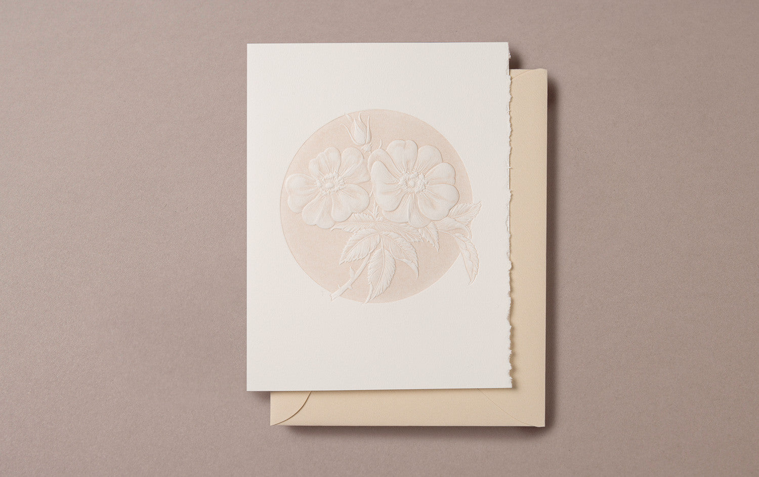 Handmade 'Wild Prairie Rose' Greeting Card