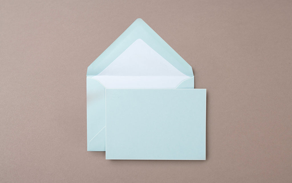 Single A6 Hand Painted Card and Envelope Blue/White