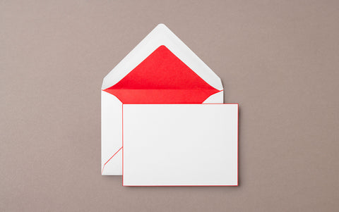 Pineider Capri A6 Card and Envelope Red