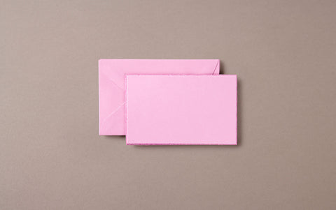 5 Mini Deckeled Edged Cards and Envelopes Mauve