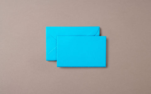 5 Mini Deckeled Edged Cards and Envelopes Turquoise