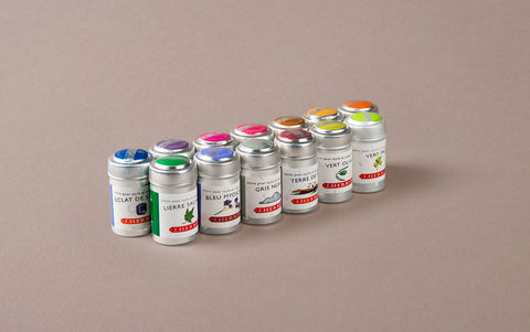 6 J. Herbin Ink Cartridges in Aluminium tin