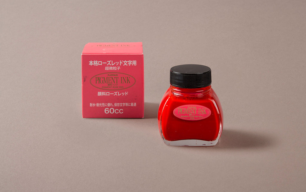 Red Pigment Ink Bottle
