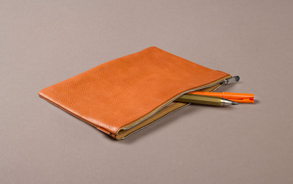 Tan Leather A5 Document and Passport Case