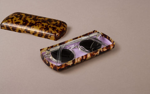 Tortoise Shell Celluloid Spectacle Case