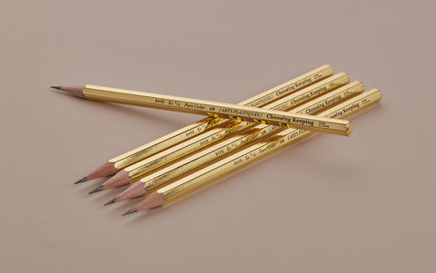 "Choosing Keeping 2B Gold Gloss 8498 ""Arts Plastiques"" Pencil"
