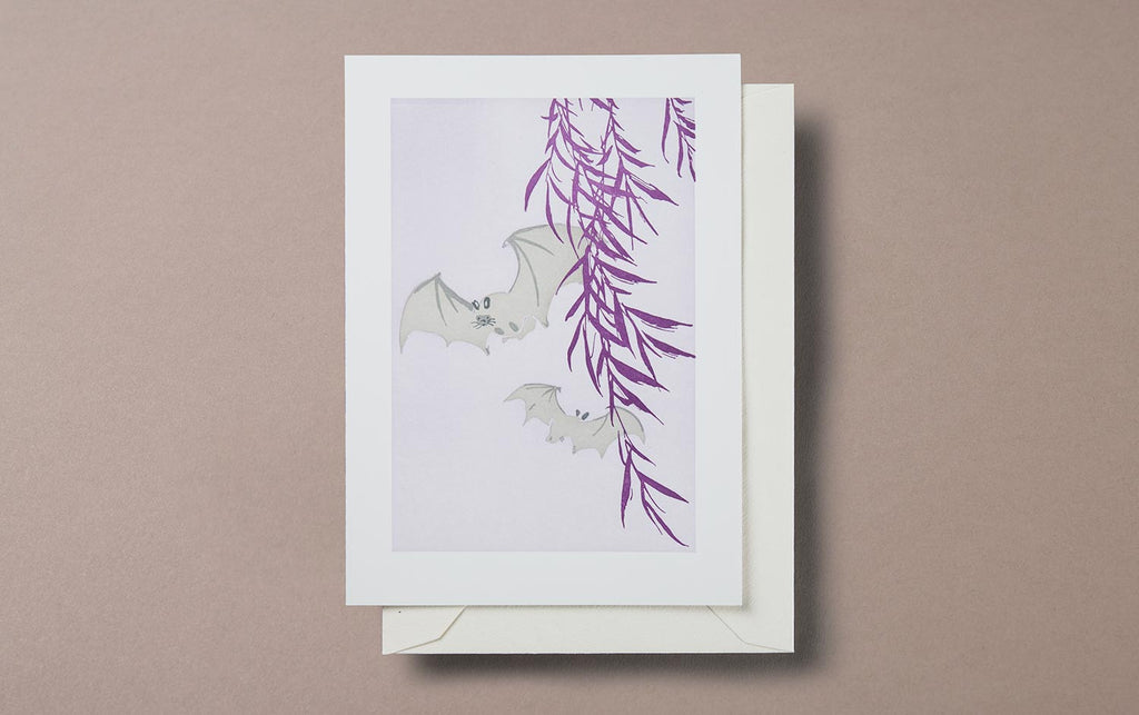 Letterpress Bats Greeting Card