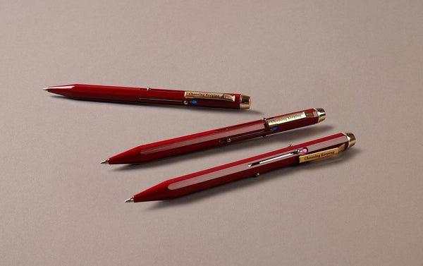 Red Metal 4 Colour Ballpoint Pen