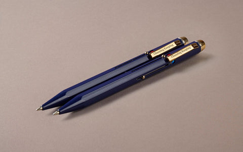 Blue Metal 4 Colour Ballpoint Pen