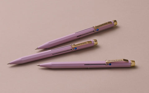 Mauve Metal 4 Colour Ballpoint Pen