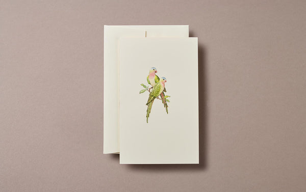 Lovebirds Embossed Greeting Card