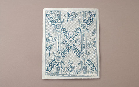 Antoinette Poisson Papier Dominoté No 1, Indigo