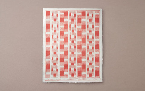 Antoinette Poisson Papier Dominoté No 14, Red