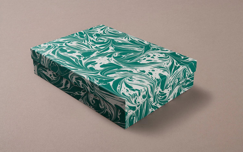 Green Marbled Storage Box