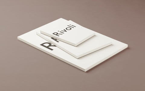 White Rivoli Writing Paper Pad