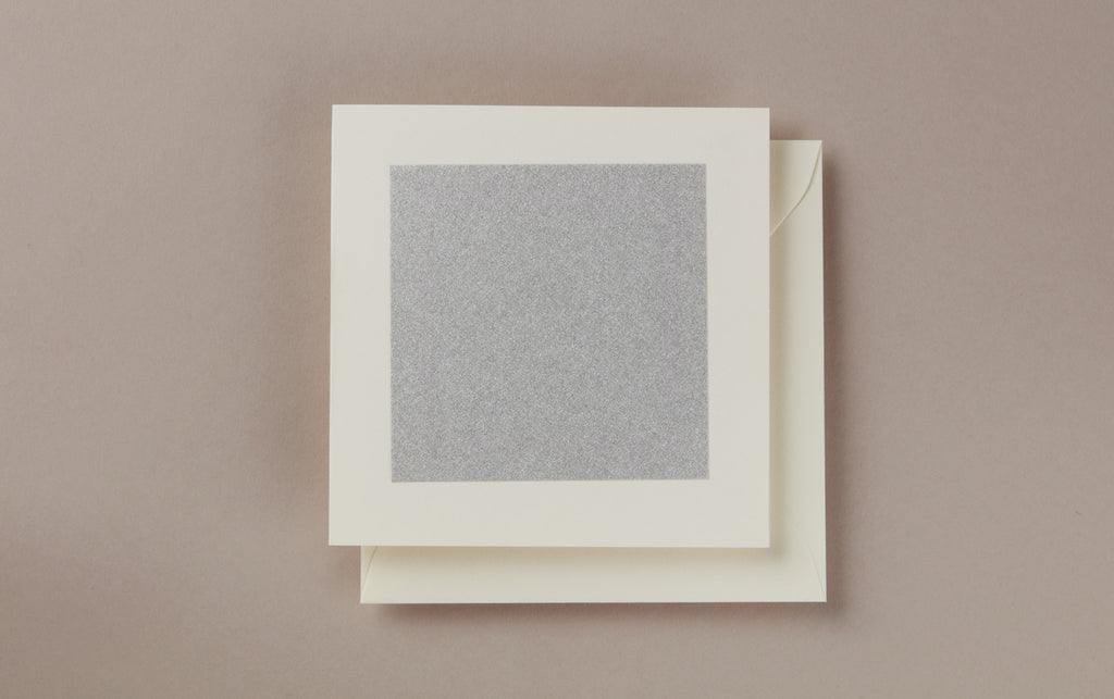 Silver Square Greeting Card