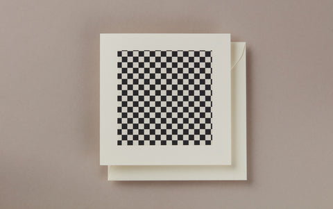 Black and White Checker greeting card