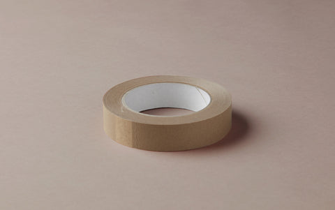 Brown paper tape roll - 2.5cm wide