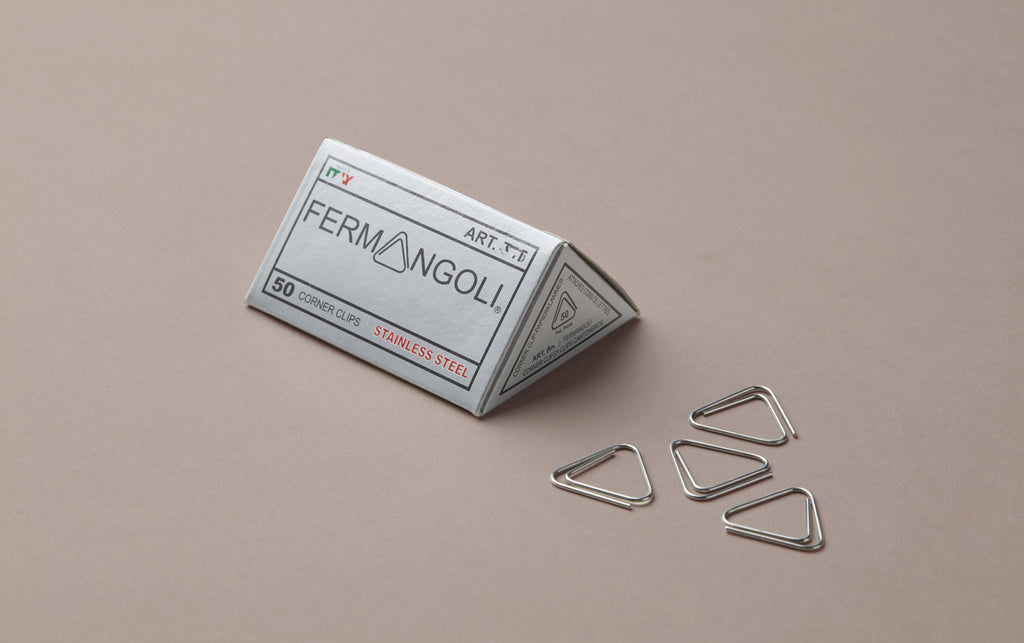50 Steel Triangular Corner Paper Clips