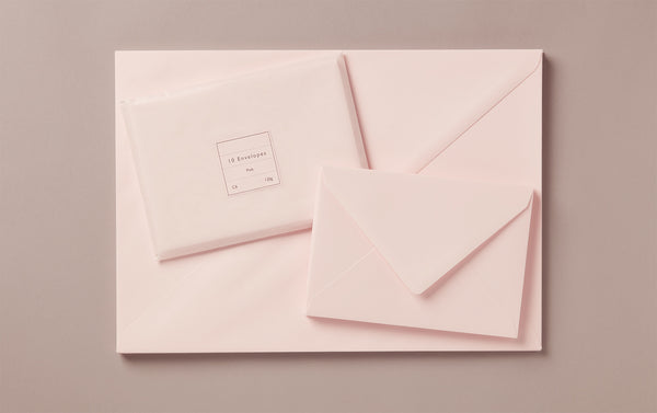 Pink Rivoli Envelopes, various sizes