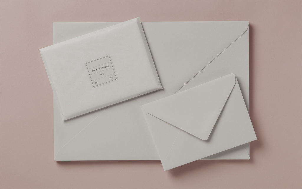 Grey Rivoli Envelopes, various sizes