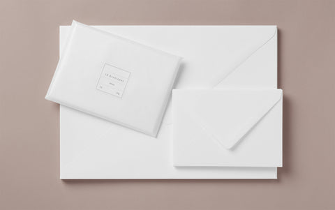 White Rivoli Envelopes, various sizes