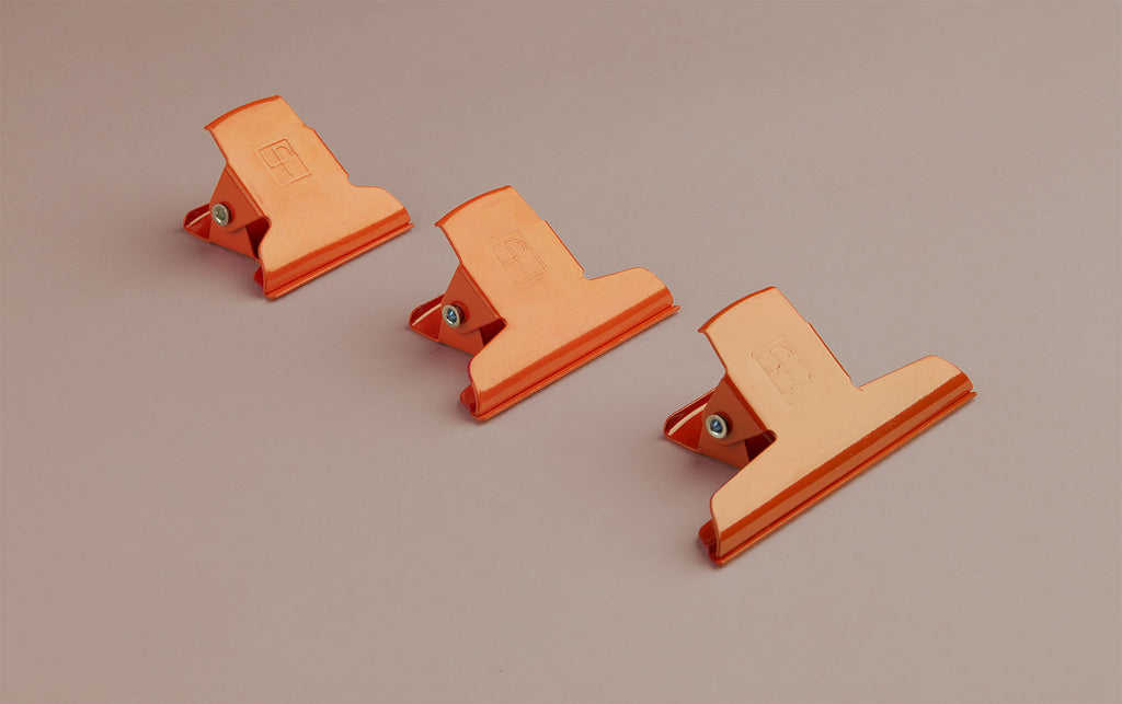 Orange Powder Coated Enamelled Binder Clip