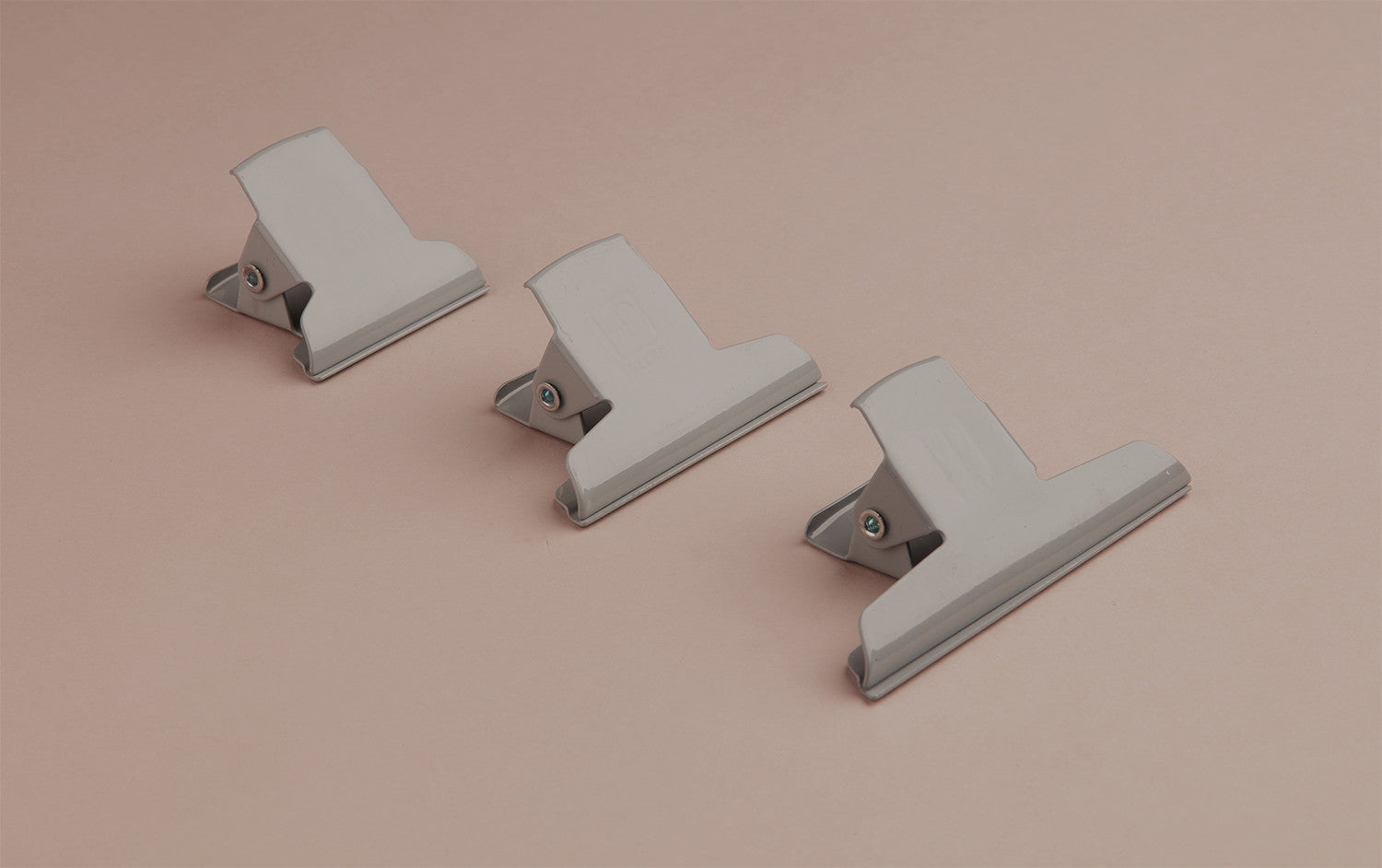 Grey Powder Coated Enamelled Binder Clip