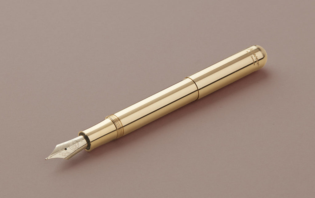 Brass Kaweco Supra Fountain Pen (Extra Large Liliput)