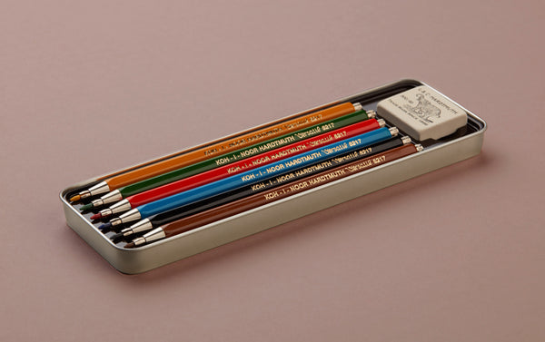 Set of 6 coloured 2mm clutch pencils by Koh-i-Noor