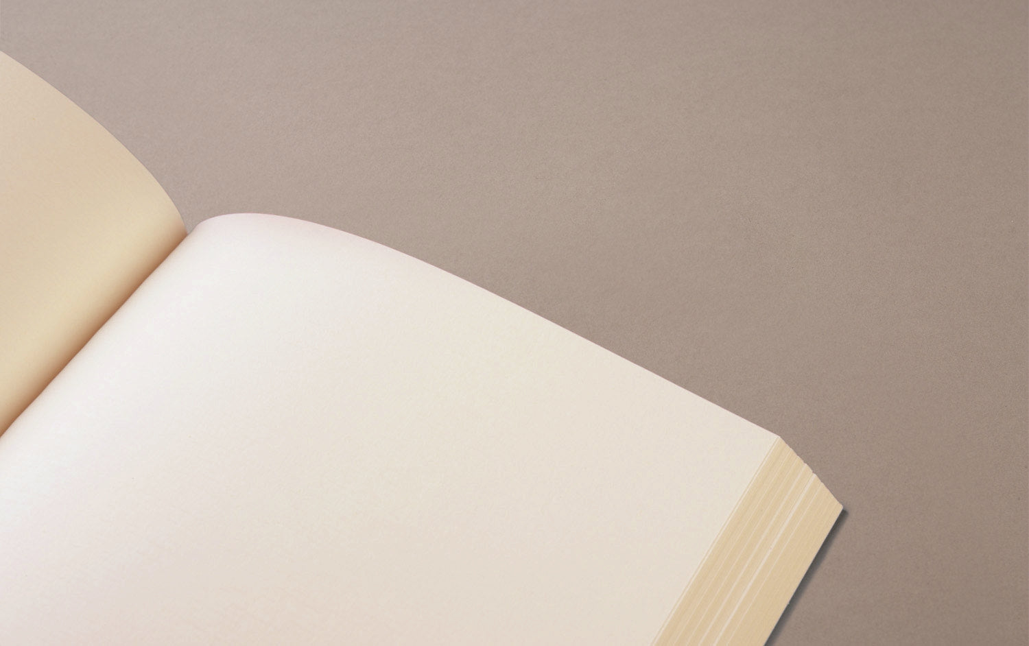 White Block A5 Notebook, with Silver edges
