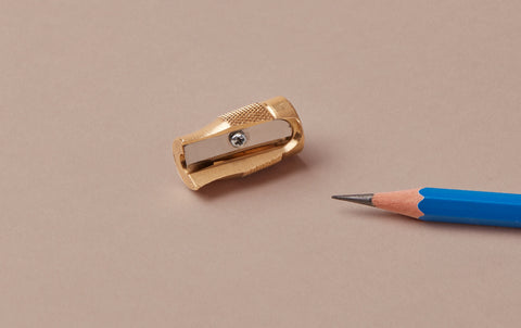 Pollux Long Concave Point Brass Sharpener