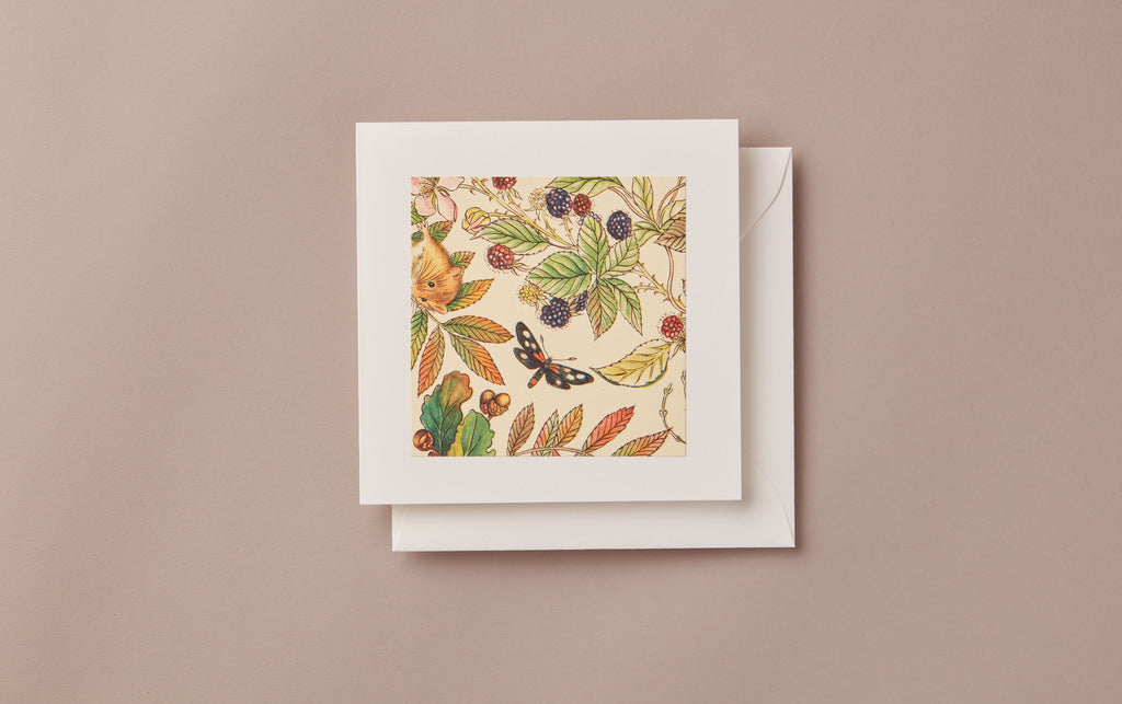 Patterned No.91 Square greeting card
