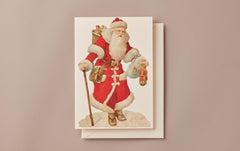 Embossed Die Cut Christmas Card, Motif C